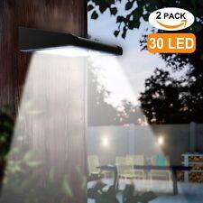 2 Pack 30 LED Solar Security Lights Outdoor Wireless Waterproof Motion Sensor
