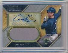 2017 TRIPLE THREADS VET /75 JERSEY AUTO GREG BIRD YANKEES
