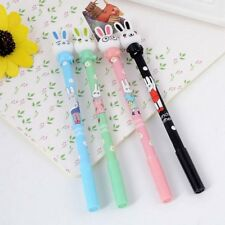 2Pcs Cute 0.5mm Rabbit Gel Pen Kawaii Bunny Black Ink Maker Cartoon Stationery