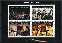 Chad 2019 CTO Pink Floyd 4v M/S I Music Famous Musicians Stamps