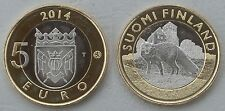 """5 Euro Finnland 2014 """"Tiere der Provinzen - Proper"""" unz."""