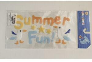 Summer Fun Gel Clings Teacher Supply Party Window Decor Mermaids Seagulls Beach