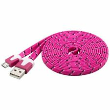 Micro usb Câble ruban rose 2,0m Micro-B à usb a connecteur textile Manteau