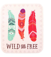 Boho Bandit Range Fridge Magnet Wooden Inspirational Gift Quotes Quotations Wild and 3 Feathers Bb34516