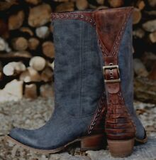 NEW Patina Vie  Lane/Sundance Catalog Coachella Nightfall/Sonora Boots 11 denim