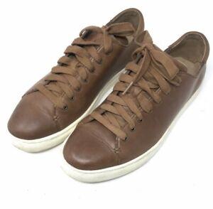 Ralph lauren jermain trainers brown calfskin leather size uk 10 D lace-ups