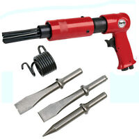 Clarke CAT84 - Pistol Grip Needle Scaler & Hammer Kit + 3 chisels, 1 taper punch