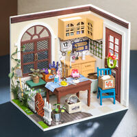 Rolife Wooden Doll House DIY Dining Room Miniature Toy Gift for Teens Adult Girl