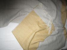 Heine Poncho Cape Umhang Schal Tuch Jacke Fransen grau gelb warmTOP Zustand