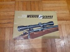 Vintage Weaver Scope Advertising Book and price list . 1960 /s ?