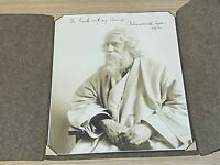 1930s Hand Signed Photograph inc Message of Rabindranath Tagore Poet Philosopher