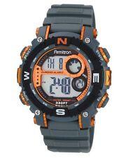 Armitron Sports Mens Chronograph Digital Dial Grey Strap Orange Watch 40/8284ORG