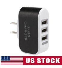 120V AC Wall Outlet To 5V USB Socket Adapter (With 3 Ports) - BRAND NEW!