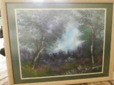 ANNA SANDHU RAY Oil PAINTING Signed & Dated 1997 Double Matted/Framed  Excellent
