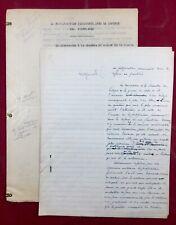 Commandant Raynal Rarissime Manuscrit Original 1930 Fortifications Défense