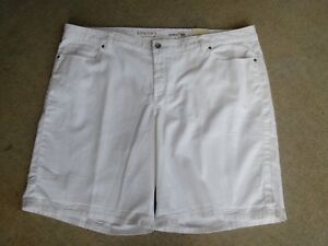 "5 Pocket-White Denim Mid Rise ""STRETCH"" Bermudas ~by Sonoma~Size 24W~SR $38"