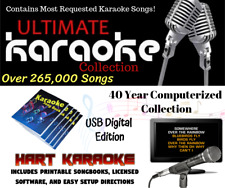 Karaoke Song Collection 265,000+ Selections - Licensed 2 TB Hard Drive Licensed