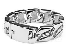 【ship from US】Rocker Biker Heavy Cool Design 316L Stainless Steel Bracelet Links