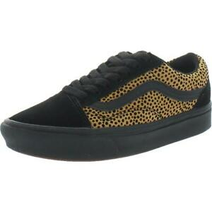 Vans Comfycush Old Skool Canvas Suede Athletic Fashion Sneakers Black Size 7.5