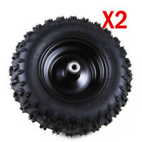 "2 Sets ATV Go Kart 4.10 -6"" Front Knobby Tyres W/ 6 "" inch Rim For 4 Wheel Buggy"
