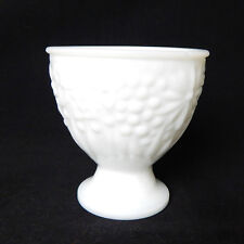 "Vintage Milk Glass White AVON Planter Vase 3.75"" Decorative Collectible"