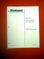 """BOLENS TRACTOR 42"""" SNOW THROWER ATTACHMENT MODEL 50142 PARTS MANUAL DATED 4-91"""