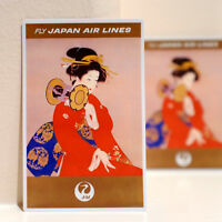 """#3574 Japan Air Lines JAL Travel Vintage Retro Luggage Label 3x4"""" Decal STICKER"""