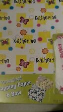 Personalized gift wrap wrapping spring butterflies Nip Katherine