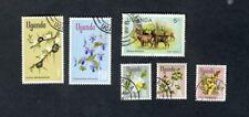 Uganda selection of stamps used VF NH