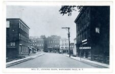 Wappingers Falls NY -MILL STREET SOUTH TO EAST MAIN- Postcard Dutchess County