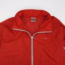 NIKE Full Zip Flannel Lined Lightweight Jacket Red Youth XLARGE 16-18