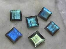 AAA Quality 25 Piece Natural Labradorite 5X5 MM Square Cut Loose Gemstone