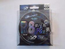 "TRESSE YUKI ""R8P8X "" VERT 0.10mm 12lb 5,4kg 150 m"
