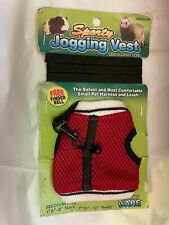 """Ware Ferrett Guinea Pig Nylon Lead With Red Harness Bell 6-8"""" by 6 feet"""