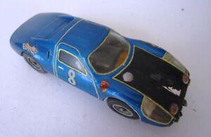 Vintage slot car 1960's conversion of a John Niblet Porsche 904 GT body kit