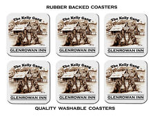 NED KELLY GANG  GLENROWAN INN  1880    SET OF 6  QUALITY RUBBER DRINK  COASTERS