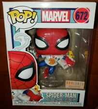 Funko Pop Marvel Spider-Man with Pizza Box Lunch Exclusive Vinyl Bobble-Head 672