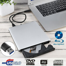 External USB 3.0 Blu-Ray CD DVD RW Drive Writer Burner Reader for Windows 7 8 10