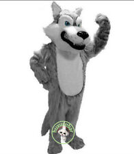 Husky Dog Mascot 2019 New Long Fur Gray Wolf Costume Suit Fox Adult Unisex Dress