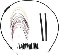 """13"""" APE BLACK EXTENDED CABLE KIT W/ ABS HARLEY STREET GLIDE ELECTRA ULTRA 08-13"""