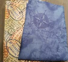 New listing Quilt Sew Fabric lot of 2 pieces Travel Windom Pasport