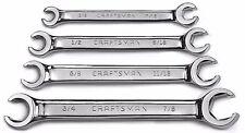 """4 Pc Craftsman Full Polish Line/Flare Nut SAE Wrench Set (3/8-7/8"""")"""