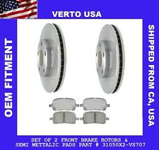 Front Brake Rotors & Pads For Toyota Avalon 1998-1999-2000-2001-2002-2003-2004
