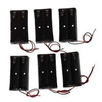 6 Pcs Black Plastic 2 x3.7V 18650 Type Battery Holder Box Case N3
