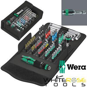 Wera Kraftform Kompakt 100 Compact Screwdriver Bit Service Kit Set 52pc Hex Key