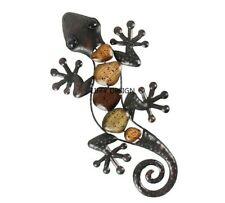 Home Décor Metal Gecko Wall Hanging Garden Indoor Outdoor Statues Accessories
