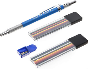 Leda Mechanical Colored Pencil set with two cases of colored lead and sharpener.