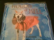 Hound of Hell Pet Costume  Bright Red Small Dog Halloween Costume  Cape & Horns