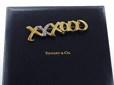 Tiffany & Co. XO Paloma Picasso18k Gold Platinum Diamonds Large SignatureBrooch