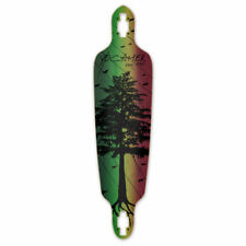Yocaher Drop Through Longboard Deck - In the Pines : Rasta